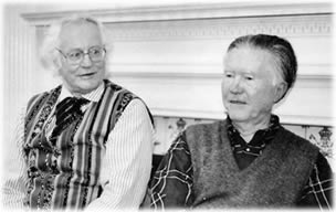 Robert Bly and Bill Stafford together in 1990